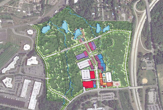 A rendering of the location of the North 60 project.